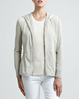 Loro Piana Gwyneth Sueded Cashmere Bomber