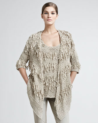 Ribbon Draped Cardigan