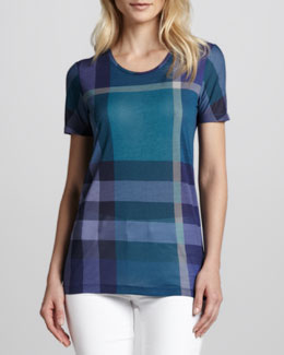 Burberry Brit Exploded-Check Modal Tee