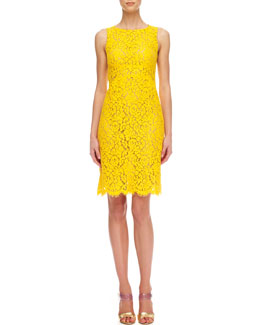 Michael Kors  Floral Lace Empire Shift Dress