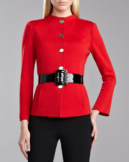 St. John Collection Milano Funnel-Neck Jacket