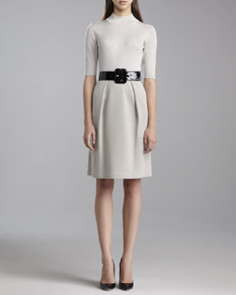 St. John Collection Milano Pleated Skirt