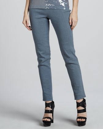 Side-Zip Ankle Pants, Tempest