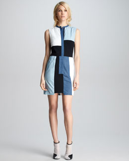 3.1 Phillip Lim Chambray Patchwork Dress