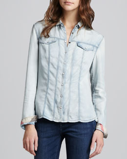 Burberry Brit Chambray Western Shirt