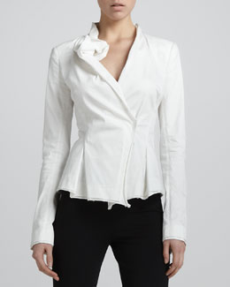 Donna Karan Sculpted-Lapel Jacket, Zinc