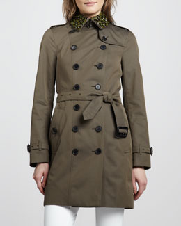 Burberry London Beaded Cotton Trenchcoat