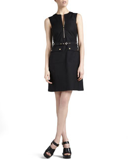 Michael Kors Belted Zip Shirtdress