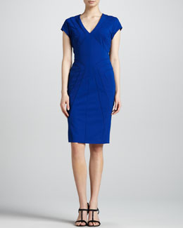 Escada Scuba Jersey Dress, Blue