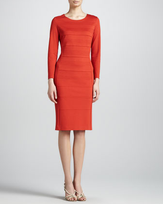 Piped Ponte Capsule Dress