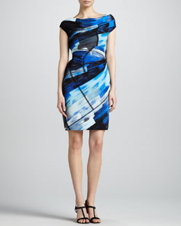 Escada Abstract-Print Graphic Dress