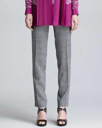 Two-Tone Printed Pants
