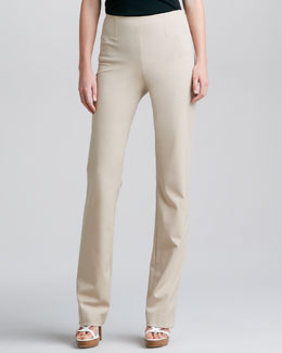 Ralph Lauren Black Label Side-Zip Straight-Leg Pants, Wheat