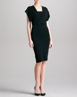 Donna Karan Jersey Infinity Dress, Black