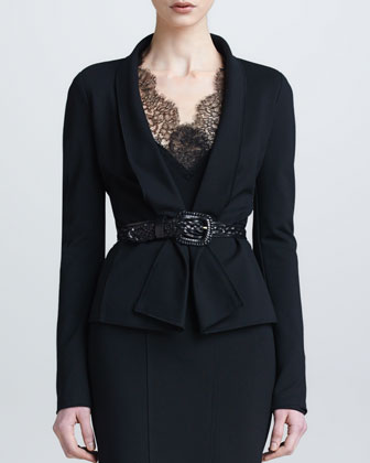 Draped Lapel Jacket, Black