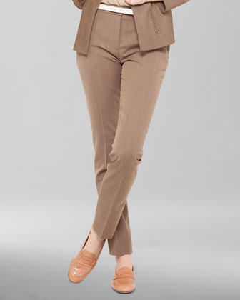 Slim Wool Ankle Pants