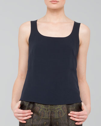 Georgette Scoop-Neck Tank