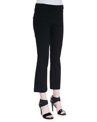 Pull-On Denim Leggings, Black