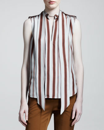 Harlow Striped Silk Blouse