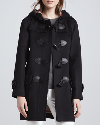 Classic Double-Face Toggle Duffle Coat, Black