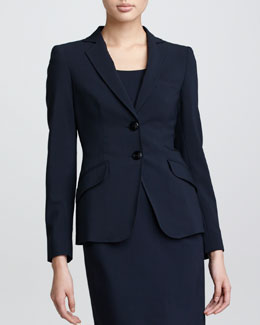 Armani Collezioni G10 Two-Button Wool Jacket, Midnight