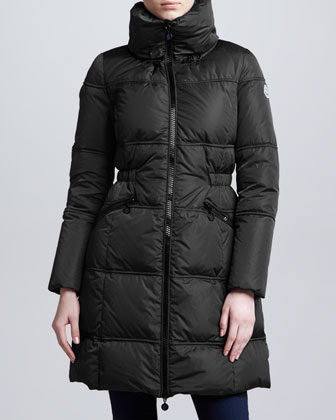Long Puffer Coat, Black