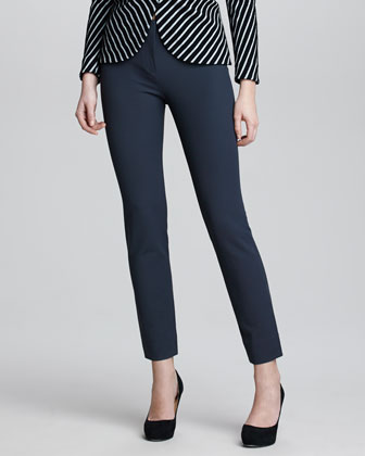 Cropped Skinny Pants, Charcoal