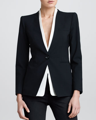 Detachable-Collar Jacket, Black