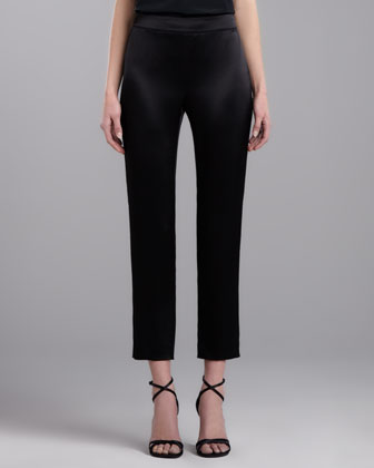Side Zip Emma Pants, Caviar