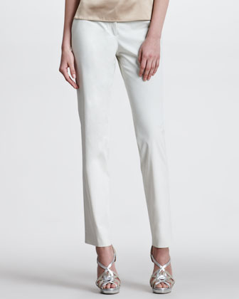 Stretch Cotton Pants, Beige