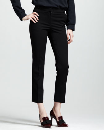 Stretch-Gabardine Ankle Pants