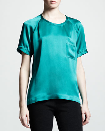 Satin Pocket Tee