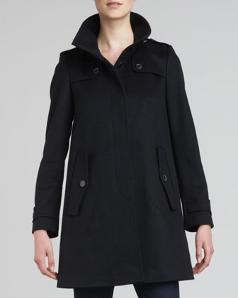 Single-Breasted Swing Coat