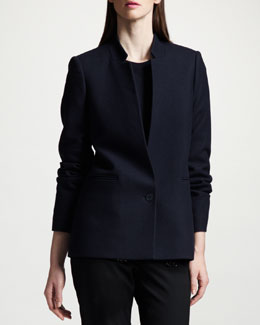 Stella McCartney One-Button Inverted Lapel Blazer