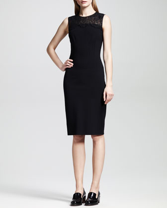 Lace-Top Combo Sheath Dress