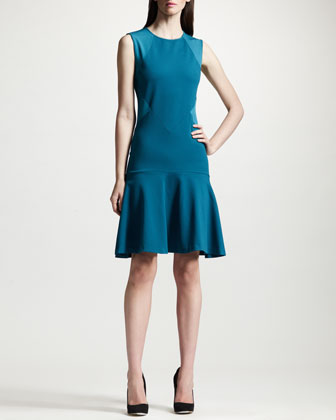 Paneled Dropped Waist Dress
