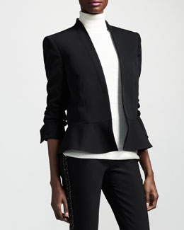 Stella McCartney Shawl-Collar Peplum Jacket