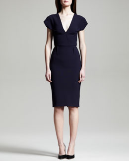 Roland Mouret Afyon Stretch Wool Sheath Dress