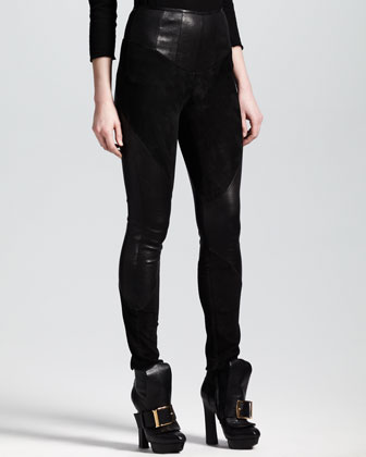 Skinny Suede/Leather Pants