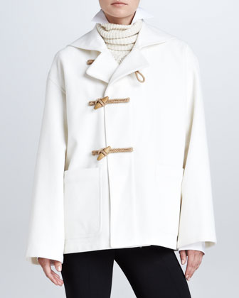 Short Duffle Coat, Cream