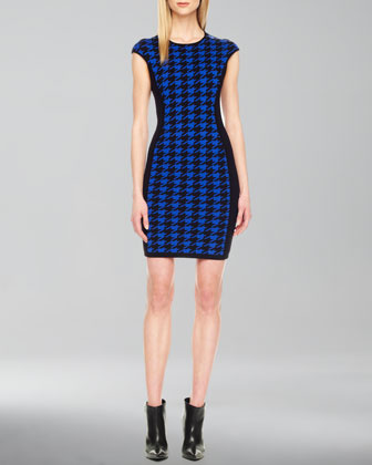 Houndstooth Formfitting Dress