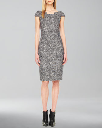 Fitted Tweed Dress