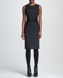Paule Ka Ponte Knit Colorblock Dress