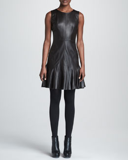 Paule Ka Leather Dress