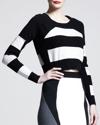 Block-Stripe Long-Sleeve Top