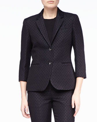 Leaf-Jacquard Jacket