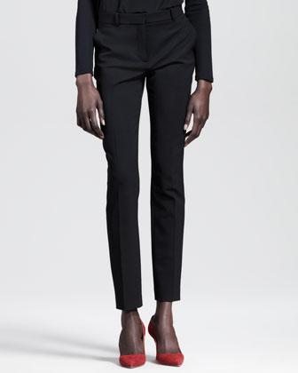 Skinny Gabardine Ankle Pants