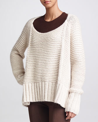 Link-Stitch Sweater, Palomino