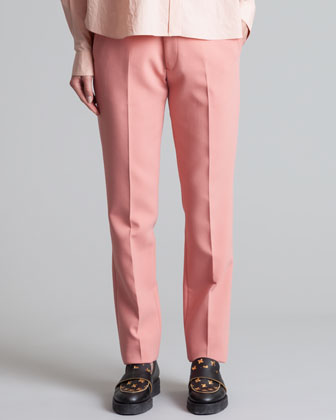 Straight-Leg Trousers, Pink Sand