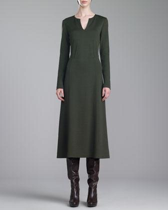 Milano Knit Dress, Loden